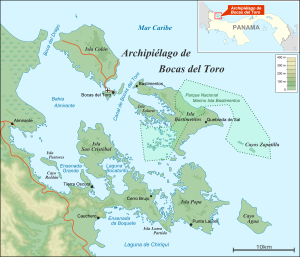 Map of Bocas Del Toro